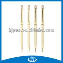 Charming Slim Twist Metal Ballpoint Pens Golden Pens
