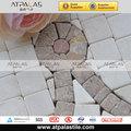 Dekoratif desen taş mozaik sınır, doğal taş bordürler emb215