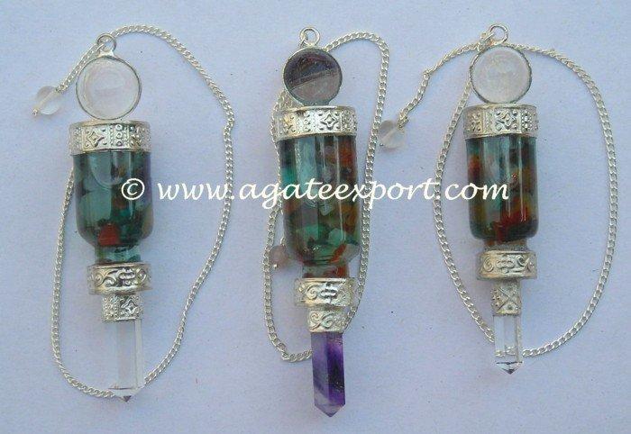 Pierres précieuses bouteille d'eau pendule : gros pendules