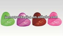 2014 wholesale 50ml heart shaped perfume glass bottle with coating