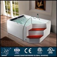 HS-B860X indoor sexy tall acrylic whilpool bathtub with ladder