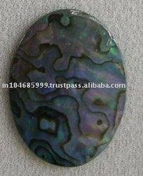 Dyed Blue Abalone Stones