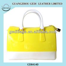 silicone jelly bag bosten web bag tote handbag for women