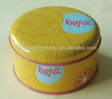 Round tin can tea tins