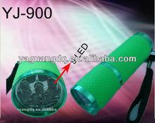 Flexible beauty aluminum green led flashlight
