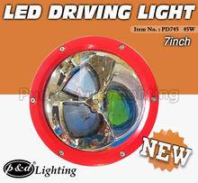 IP68, CE, RoHS, C-TICK Approved!! 45W 12v & 24v LED cars off road lights