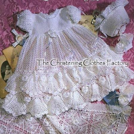 bebé ganchillo vestido de bautizo conjunto-Toda la ropa de bebé ...