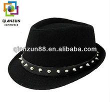 Unisex Lady Women & Men Black Vintage Fedora Trilby Hats