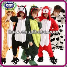 New Style Coral Fleece Women and Men Sleepwear Animal Onesie Costumes Winter Adults Pajamas