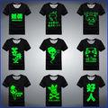 Custom 2013 brilham no escuro t- camisa todos os tipos de design