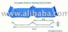 Fe90574 corrugated sheet for roofing(yx34-410-820)