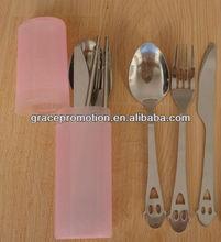 Stainless steel cutlery or travel tableware set