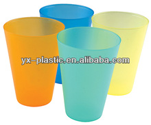 plastic drinking cup/tumbler colorful plastic water cup