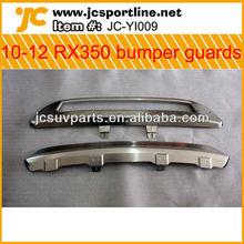 Steel 2010-12 RX350 Front & Rear Bumper guards for Lexus RX350