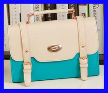 HL600510deeep blue 2014 new style college ladies handbag colleuge shouldr bags