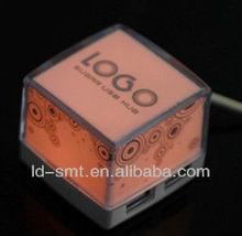 led light cube 4 port usb hub
