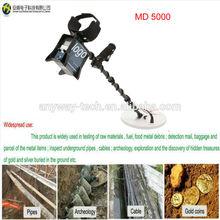 Oro rilevare macchina, profondo oro rivelatore sotterraneo md-5000 sotto metal detector a terra