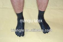 latex 5 toe socks, Anatomically shaped. Fits great.