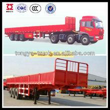 hot-sale 3 axle side wall bulk cargo carrier semi trailer for sale