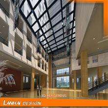 Modern Design Hotel Lobby Decoration Plan