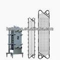 placa de titanio intercambiador de calor de la placa de titanio