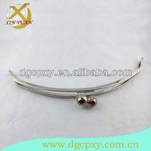 Inlaid gold kiss ball metal handbags clip/frame