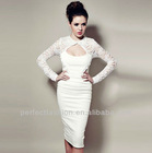 Fashion New Design Spring Summer Dress Long Sleeve Lace Dress,Bodycon Bandage Dress,Europe Casual Formal Celebrity Evening Dress