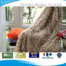 Soft Elegant Luxurious 45mm Curly High Hair PV Fleece Blanket&Anti-pilling Polar Fleece Blanket