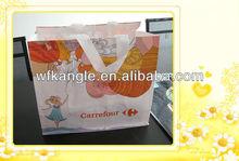 Printed tote bag,shopping bag PP WOVEN