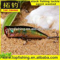 70mm/10g/top water hard plastic fishing popper luresea bass fishing lures