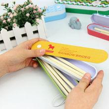 LANGUO stylish design pencil box set compartments for kids model:CHXB-907