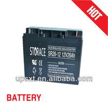 dry battery 12v 26ah ups battery