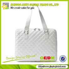 2014 blank quilted pu computer handbag laptop bag leather handbags shanghai