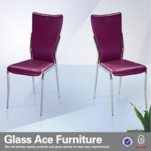 Luxury Purple Leather Dinning Chair dining room furniture