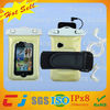 Waterproof fancy bag with earphone, pvc cell phone bag hot sale for iphone 4/4s