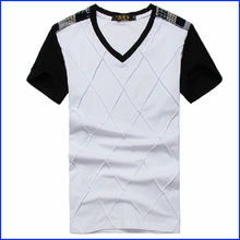 manufacture of china v-neck 50% cotton 50% polyester t-shirts for men