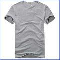 100% más barato al por mayor de poliéster del hombre en blanco t- shirt