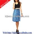 2015 senhoras saias longas brim azul( ldzq016)