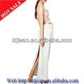 2014 branco atacado longo Denim saias vestido