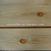 Natural Knotty Yellow Pine Wood Veneer for Indoor