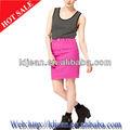 2014 fashion designer colorido das mulheres denim short saia apertada( ldzq0135)