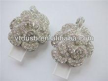 Black colloidal beautiful popular mini flower shape jeweled USB flash drives/stick/pendrive/pen drive/disk necklace