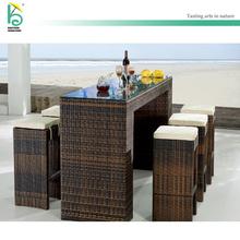 Outdoor furnituer for Summer bar sets Bar stool Bar table High table High chair Rattan Furniture