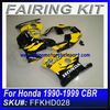 For Honda 1990-1999 CBR MC22 FAIRINGS BLACK&YELLOW (2)