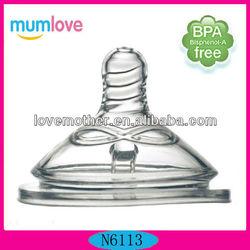 Mumlove Big Silicone Baby Feeding Nipple With FDA.SGS Certification Guarantee