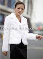 Cx-g-a-145b Genunie trắng áo khoác lông thỏ