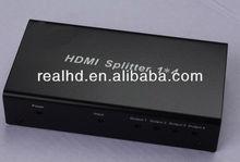 support 3d 1x4 port HDMI Splitter/hdmi splitter to coaxial