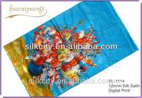 Custom Logo Digital Print Silk Scarf Factory Free Samples