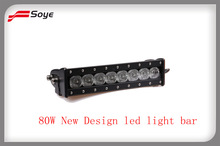 Guangzhou auto parts 10 inch 80W Cree led light bar for truck utv atv dune buggy offroad led driving light