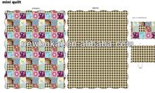 popular design quilt bedspread and curtain set